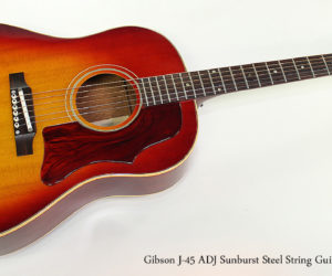 SOLD!! 1966 Gibson J-45 ADJ Sunburst Steel String Guitar