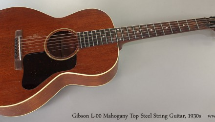 Gibson-L-00-Mahogany-Top-Steel-String-Guitar-1930s-Full-Front-View