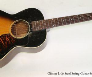 Gibson L-00 Steel String Guitar Sunburst, 1936