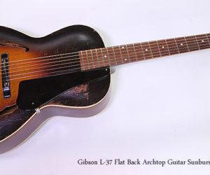 Gibson L-37 Flat Back Archtop Guitar Sunburst, 1938