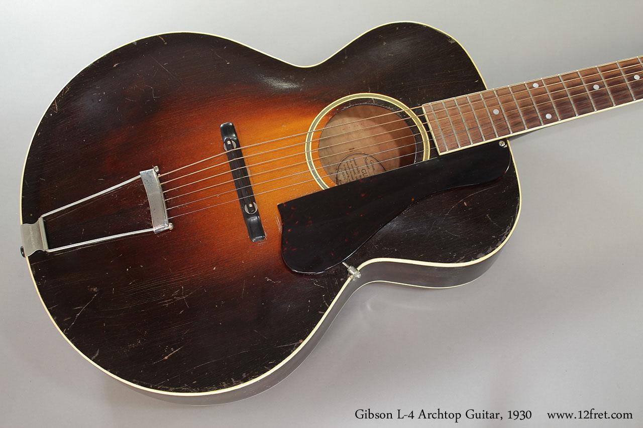 1930 gibson l 4 archtop guitar sold. Black Bedroom Furniture Sets. Home Design Ideas