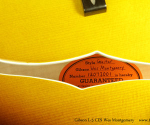 Gibson L-5 CES Wes Montgomery Archtop SOLD