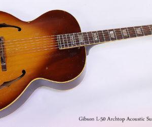 Gibson L-50 1966 Archtop Acoustic Sunburst