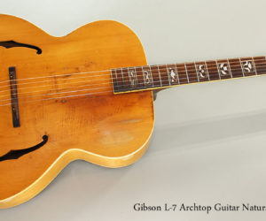 SOLD!!! 1939 Gibson L-7 Archtop Guitar Natural