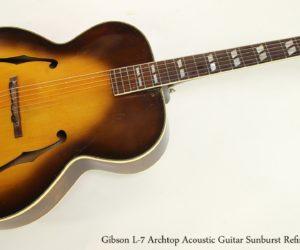 Gibson L-7 Archtop Acoustic Guitar Sunburst Refinish, 1947