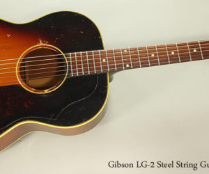 SOLD! 1960 Gibson LG-2 Steel String Guitar