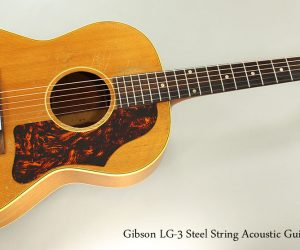 SOLD!!! 1956 Gibson LG-3 Steel String Acoustic Guitar