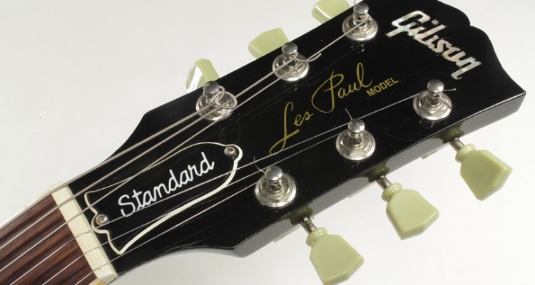 Gibson-Les-Paul-Standard-Black-1995-head-front-view