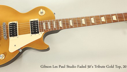 Gibson-Les-Paul-Studio-Faded-50s-Tribute-Gold-Top-2011-Full-Front-View