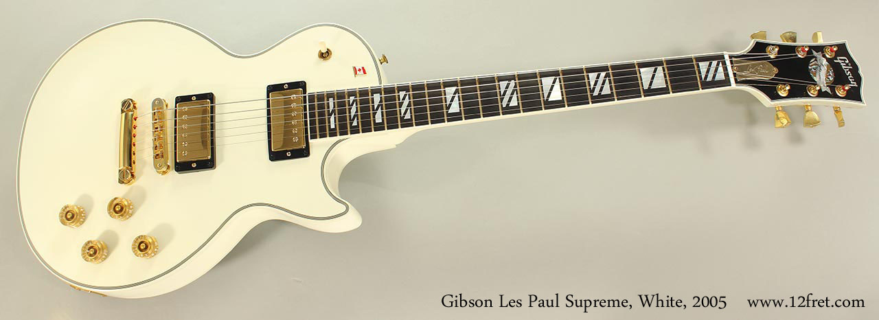 Gibson Les Paul Supreme White 2005 Full Front View