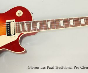 2013 Gibson Les Paul Traditional Pro Cherry Burst SOLD