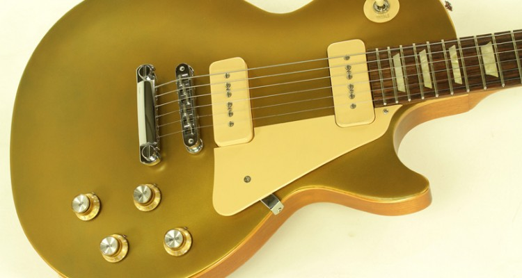 Gibson-Les-Paul-1960s-Tribute-Gold-Top-2010-top