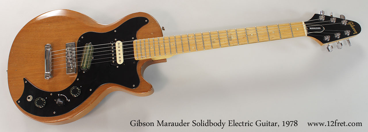 1978 gibson marauder solidbody electric guitar 12fret gibson marauder solidbody electric guitar 1978 full front view sciox Gallery