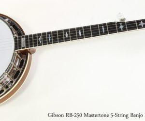 Gibson RB-250 Mastertone 5-String Banjo Mahogany, 1998
