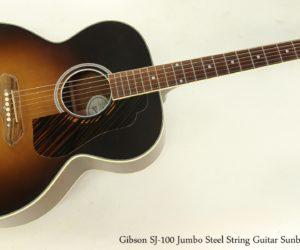 SOLD!!! Gibson SJ-100 Jumbo Steel String Guitar Sunburst, 2013