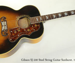 Gibson SJ-200 Steel String Guitar Sunburst, 1954