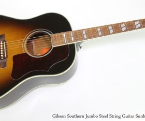 Gibson Southern Jumbo Steel String Guitar Sunburst, 2004