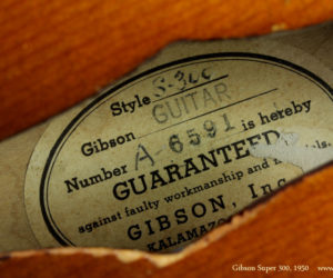 1950 Gibson Super 300 (consignment)  SOLD