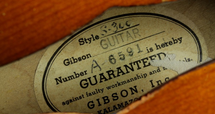 Gibson-Super-300-1950-label
