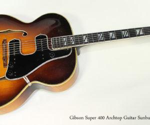 1947 Gibson Super 400 Archtop Guitar Sunburst