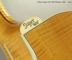 SOLD 1999 Gibson Super 400 1939 Reissue (consignment)