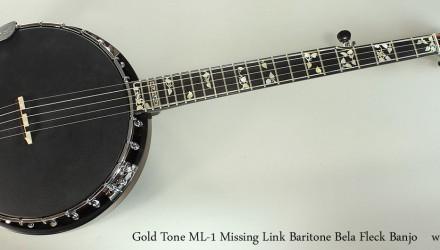 Gold-Tone-ML-1-Missing-Link-Baritone-Bela-Fleck-Banjo-Full-Front-View