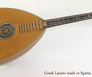 Greek Laouto made in Sparta, 1930s