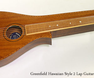 Greenfield Hawaiian Style 2 Lap Guitar, 1930