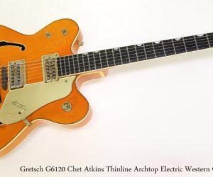 Gretsch 6120 Chet Atkins Thinline Archtop Electric Western Orange, 1962