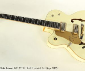 SOLD!!! Gretsch White Falcon G6126TLH Left Handed Archtop, 2005