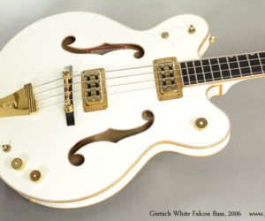 2006 Gretsch White Falcon Bass G6136LSB (consignment)  SOLD