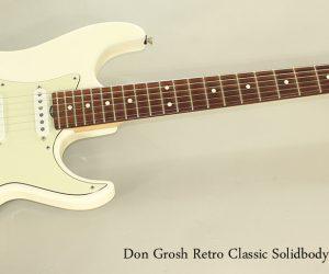 SOLD!!! 1999 Don Grosh Retro Classic Solidbody Guitar