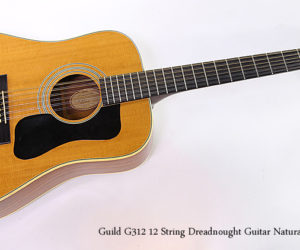 ❌ SOLD ❌  Guild G312 12 String Guitar Natural, 1975