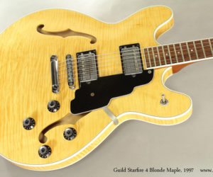 1997 Guild Starfire 4 Blonde Maple Thinline Guitar (consignment)  SOLD