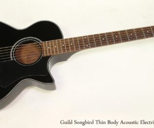 Guild Songbird Thin Body Acoustic Electric Black, 1990