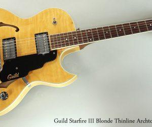 2000 Guild Starfire III Blonde (SOLD)