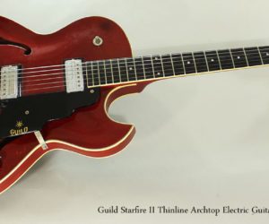 SOLD!!! 1964 Guild Starfire II Thinline Archtop Electric Guitar, Cherry