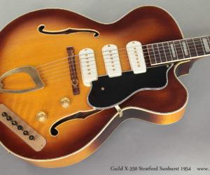 1954 Guild X-350 Stratford Sunburst Archtop (consignment) SOLD