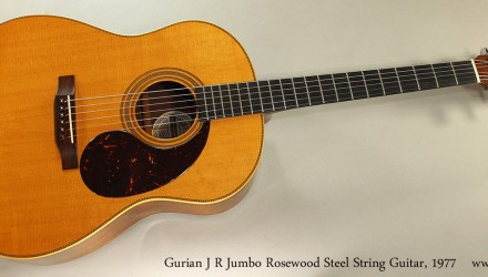 Gurian-J-R-Jumbo-Rosewood-Steel-String-Guitar-1977-Full-Front-View