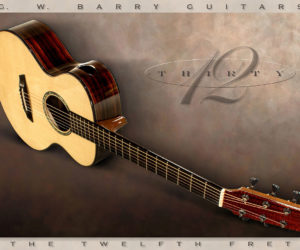 SOLD!!! G W Barry 30-12 Mod C Ziricote Steel String Guitar