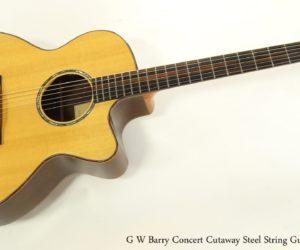G W Barry Concert Cutaway Steel String Guitar, 2000