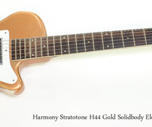 SOLD!!  1955 Harmony Stratotone H44 Gold Solidbody Electric Guitar