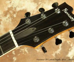 2013 Harrison GB Custom Sapele Pomelle  SOLD