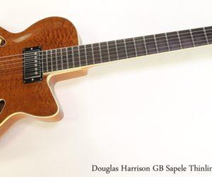 Douglas Harrison GB Sapele Thinline Archtop, 2013