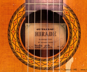 1982 Hirade Master Arte Model 7 Classical Guitar SOLD