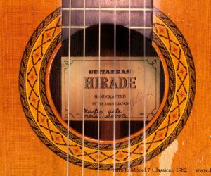 SOLD!!! 1982 Hirade Master Arte Model 7 Classical Guitar