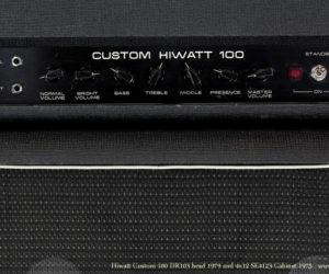1979 Hiwatt Custom 100 head and 1975 Hiwatt SE4123 cabinet SOLD