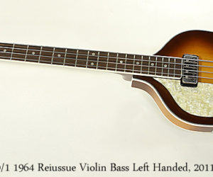 ❌ SOLD ❌  Hofner 500-1 1964 Reissue Violin Bass Left Handed, 2011
