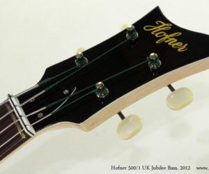 2012 Hofner 500-1 UK Jubilee Bass