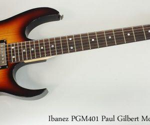 NO LONGER AVAILABLE!!! 2009 Ibanez PGM401 Paul Gilbert Model